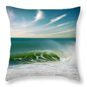 Perfect Wave Throw Pillow by Carlos Caetano