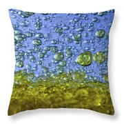 Abstract Olive Oil Throw Pillow