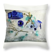 Perfectly Blue Throw Pillow