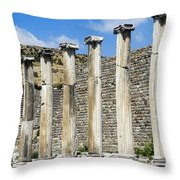Pergamon Asklepion Colonnade Throw Pillow