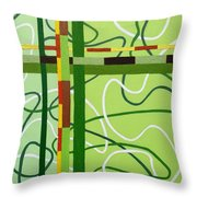 Peridot Party Throw Pillow by Tara Hutton