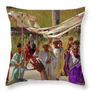 Period Performers At Ephesis Turkey Throw Pillow