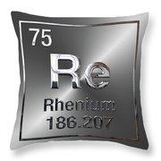 Periodic Table Of Elements - Rhenium Throw Pillow