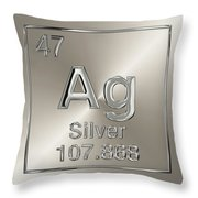 Periodic Table Of Elements - Silver - Ag Throw Pillow