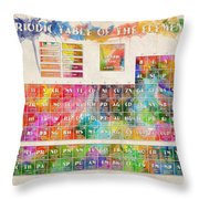 Periodic Table Of The Elements 10 Throw Pillow