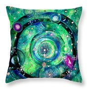 Universe Inside Of Electrons. Periodic Table Of The Elements Throw Pillow