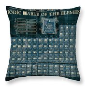 Periodic Table Of The Elements Vintage 4 Throw Pillow