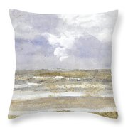 Periwinkle Coast Throw Pillow