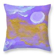 Periwinkle Moon Throw Pillow