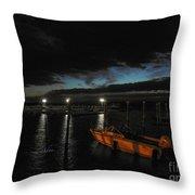 Perkins Pier Sunset Throw Pillow