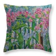 Perky Pink Phlox In A Dahlonega Garden Throw Pillow