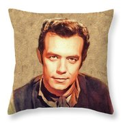 Pernell Roberts, Vintage Actor Throw Pillow