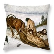Perov: Dead, 1865 Throw Pillow