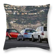 Perpendicular Parking Throw Pillow