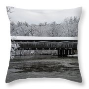 Perrine's Bridge After The Nor'easter Throw Pillow