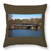 Perrine's Bridge In Spring #2 Throw Pillow