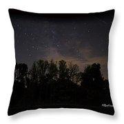 Perseid Meteor In Milky Way Throw Pillow