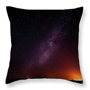 Perseid Meteor Shower 2016 Throw Pillow