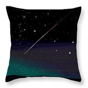 Perseid Meteor Shower  Throw Pillow by Jean Pacheco Ravinski