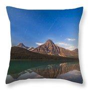 Perseid Meteors Over Mt. Chephren Throw Pillow