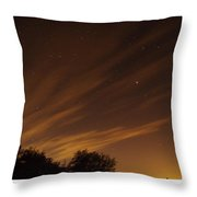 Perseid Shower Glow C Throw Pillow