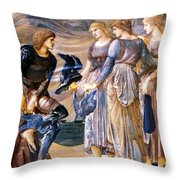 Perseus And The Sea Nymphs 1877 Throw Pillow