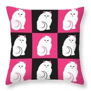 Persian Cat Pattern Throw Pillow