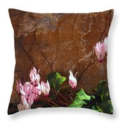 Persian Cyclamen Throw Pillow