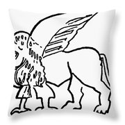 Persian Griffin Throw Pillow