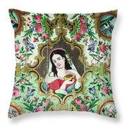 Persian Lady Throw Pillow