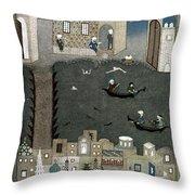 Persian Miniature, 1468 Throw Pillow