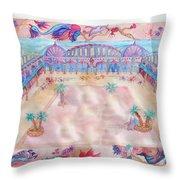 Persian Palace Throw Pillow