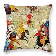 Persian Polo Game Throw Pillow