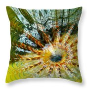 Persian Pool Lily Pad Throw Pillow
