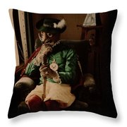 Person Dressed Up As A Fox, Johannes Hendrikus Antonius Maria Lutz, 1907 - 1916 Throw Pillow