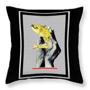 Personal Goldfish Throw Pillow