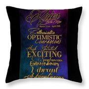 Personality Traits Of An Aries Throw Pillow