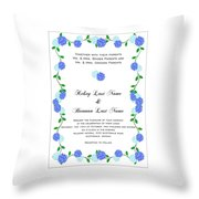 Personalized Wedding Invitations Throw Pillow