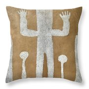 Personnage With Two Trees Throw Pillow