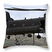 Personnel Attach A Storage Container Throw Pillow
