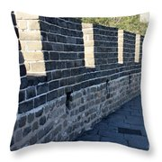 Perspective At The Great Wall Throw Pillow