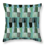 Perspective Compilation With Wood Grain And Teal Throw Pillow
