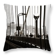 Perspective On The Golden Gate Bridge Throw Pillow