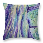 Perspective Tree Throw Pillow by Gretchen Bjornson