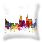 Perth Australia Cityscape 06 Throw Pillow