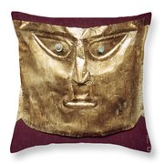 Peru: Chimu Gold Mask Throw Pillow