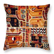 Peru: Tunic Fragment Throw Pillow