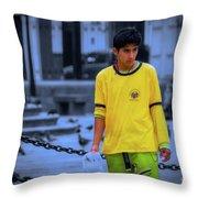 Peruvian Boy Throw Pillow