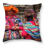 Peruvian Costume Throw Pillow