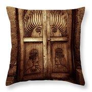 Peruvian Door Decor 11 Throw Pillow